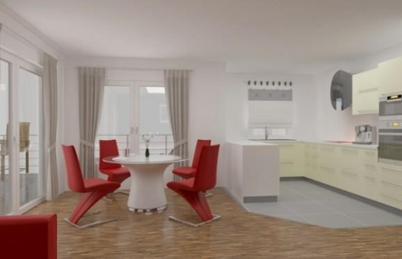 Eigentumswohnung ETW Paderborn, 33100 Paderborn, Kreis, NRW   Esszimmer Animation