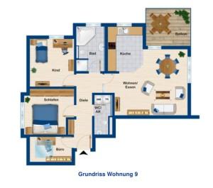 Eigentumswohnung ETW Wolfertschwenden 87767 Bad Grönenbach Unterallgäu Grundriss